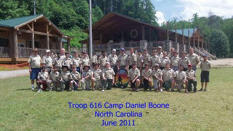 Troop 616 at Camp Daniel Boone 2011